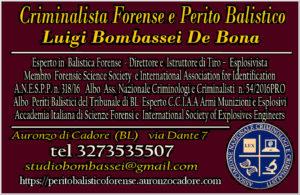 perito balistico perizie balistiche Venezia Milano Brescia Verona Padova Bologna Ancona Trieste Treviso Modena Forlì